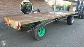Transport Platte wagen 6 meter platte wagen, balenwagen, transportwagen oprijwage
