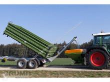 Remolque agrícola volquete con cortina Fliegl Überladeschnecke 3m