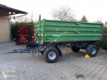 Remolque agrícola DSK 8to Auflaufbremse volquete con cortina usado