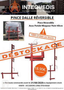 New formwork construction Intequedis PINCE DALLE REVERSIBLE AVEC POTELET BLOQUEUR - Finition Peint
