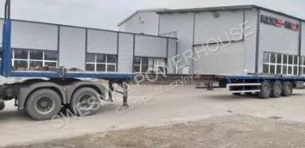 Renders chassis semi-trailer 19,5 m naczepa rozsuwana