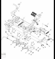 Repuestos John Deere AH140605 John Deere 9880i STS - Przełącznik usado