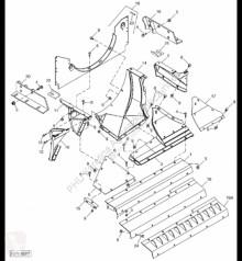Części zamienne John Deere H219031 John Deere 9880i STS - Płytka używana