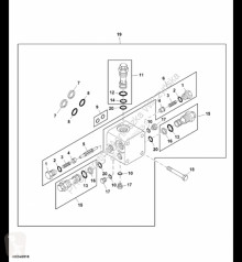 Pièces détachées John Deere AN122497 John Deere 9880i STS - Zawór nadmiarowy occasion