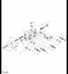 Części zamienne John Deere AH218798 John Deere 9880i STS - Zawór sterujący używana