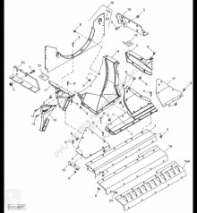 Repuestos John Deere H174680 John Deere 9880i STS - Podłoga usado