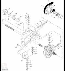 Náhradné diely John Deere AH232850 John Deere 9880i STS - Koło zębate napędowe ojazdený
