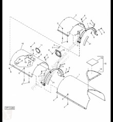 Yedek parçalar John Deere AH208573 John Deere 9880i STS - Osłona ikinci el araç