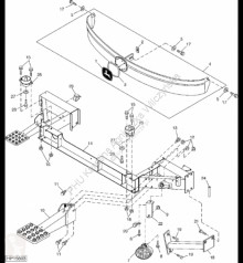 Náhradné diely John Deere AH209089 John Deere 9880i STS - Podpora ojazdený