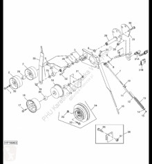 Yedek parçalar John Deere AH230067 John Deere 9880i STS - Zespół krążka linowego