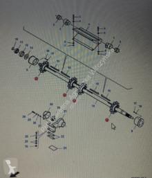 Yedek parçalar Fendt FENDT LA323317050/Fendt tryb przenośnika pochyłego/górny wał/Fendt 6335C ikinci el araç
