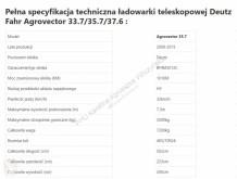 Części zamienne Deutz Fahr Agrovector 35.7[CZĘŚCI MECHANICZNE] - Skrzynia - Silnik - Siłowniki używana