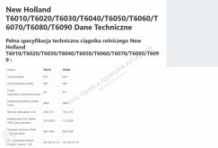 Pièces détachées New Holland New Holland T6010 [CZĘŚCI MECHANICZNE] - Zwolnica - Zwrotnica - Półoś - Skrzynia - Silnik occasion