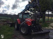 Traktor leśny Massey Ferguson Dyna-4/ 5475, tractor forestal + remolque Toimil