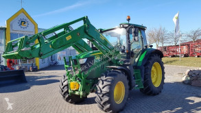 Mezőgazdasági traktor John Deere 6120R AutoPowr mit FL 643R & Frontzapfwelle használt