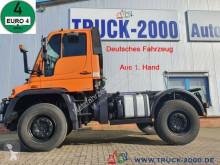 Teherautó Unimog U400 U 400 4x4 Zapfwelle Wechsellenkung Mähsitz Klima használt alváz