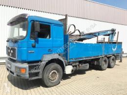 Camion plateau MAN 26.403 DFLC 6x4 BL 26.403 DFLC 6x4 BL, Heckkran Atlas AK 160.1, 6-Zylinder Motor