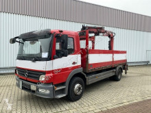 Used flatbed truck Mercedes Atego 1318 L 4x2 Atego 1318 L 4x2 mit Heckkran Atlas Terex TLC 92.2, Funk