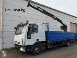 Camion plateau Iveco EuroCargo 80E 18 4x2 Euro Cargo ML 80 E 18, Hiab Kran 060-2