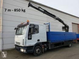 Iveco plató teherautó EuroCargo 80E 18 4x2 Euro Cargo ML 80 E 18, Hiab Kran 060-2