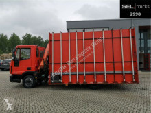Camion plateau porte panneau Iveco Eurocargo Eurocargo ML80E18 / Kran / Euro 5 / GlasTransp
