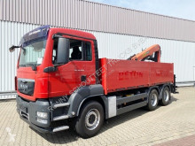 Camión caja abierta usado MAN TGS 26.400 6x4 BB TGS 26.400 6x4 BB mit Heckkran Palfinger PK 18001, Hochsitz