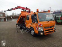 Mitsubishi three-way side tipper truck 7C15D Kipper Kran Fassi Funk