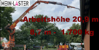 Grua Mercedes Palfinger PK 17000 ELB 20,90 m 450 kg ohne LKW grua móvel usada