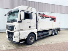 Vrachtwagen MAN TGX 26.480 6x4 BL TGX 26.480 6x4 BL mit Heckkran Fassi F195AS, Hochsitz tweedehands platte bak