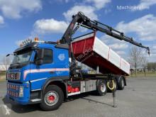Camion plateau Volvo FM500 8x4 3 WAY TIP CRANE HIAB 211 EP-5 RADIO EURO 5