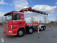 Lastbil Scania R144.460 8x2 WITH PALFINGER PK35000C K4 YEAR 2000 containertransport begagnad