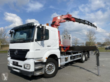 Mercedes AXOR 2533 6X2 EURO 4 WITH HMF 3000 K6 truck used flatbed