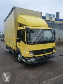 Lastbil Mercedes Atego 818 Atego Palfinger PC3300 Kran Pr/PL Euro 5 flexibla skjutbara sidoväggar begagnad