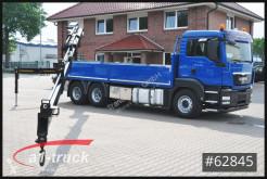 Camion MAN TGS TGS 26.360 BL 6x4 Kran Hiab 211-4 Pritsche plateau ridelles occasion