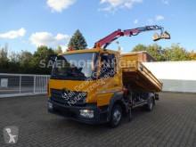 Ciężarówka Mercedes Atego 821 Atego 3Seitenkipper + FASSI F65B 4x2 wywrotka trójstronny wyładunek używana
