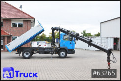 Camión MAN F2000 F2000, 18.284, HIAB Kran, 3 Seitenkipper, TÜV 03/22 volquete volquete trilateral usado