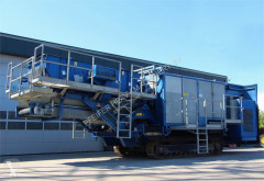 Concasare, reciclare nc IRWS 14002-FT Crawler wind sifter: Screens concasare second-hand