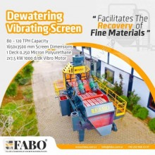 Fabo Brechanlage PREMIUM QUALITY DEWATERING SCREEN WITH PU MESH
