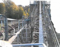 Concassage, recyclage convoyeur Scherenband mit Turm 1 x A-A 36 m, 1 x A-A 23 m, Gurtbreite 800