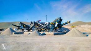 Britadeira, reciclagem trituração Fabo FULLSTAR-90 Unité de concassage et de criblage mobile pierre dure