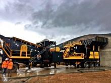 Vedeţi fotografiile Concasare, reciclare Fabo pro-150 mobile crushing&screening plant|concassage et criblage mobile|calcaire/limestone|pret en stock|turbo impact crusher plants