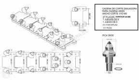 Pièces détachées TP Autres éléments fonctionnels PLACAS PARA CADENA 4502K pour trancheuse