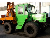 Prakla drilling vehicle drilling, harvesting, trenching equipment