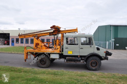 Unimog drilling vehicle drilling, harvesting, trenching equipment