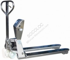 Transpallet guida in accompagnamento TRANSPALETTE PESEUR INOX