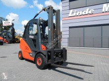 Linde H35D-02 Triplex , Side shift used diesel forklift