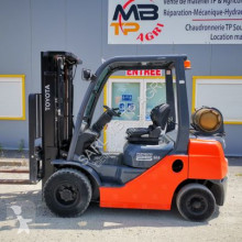 Toyota 02-8 fgf 25 used gas forklift