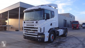 cabeza tractora Scania 124 - 400 (WITH HYDRAULIC TIPPING PUMP / ENGINE WITH MANUAL FUEL PUMP)