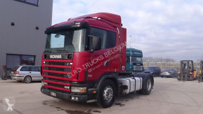 cabeza tractora Scania 124 - 420 (MANUAL GEARBOX / BOITE MANUELLE / HYDRAULIC PUMP FOR TIPPING)