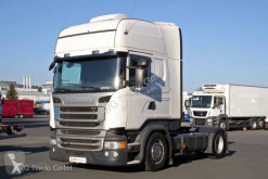Tracteur convoi exceptionnel occasion Scania R 410 Topline etade Standklima 2 x Tank ACC